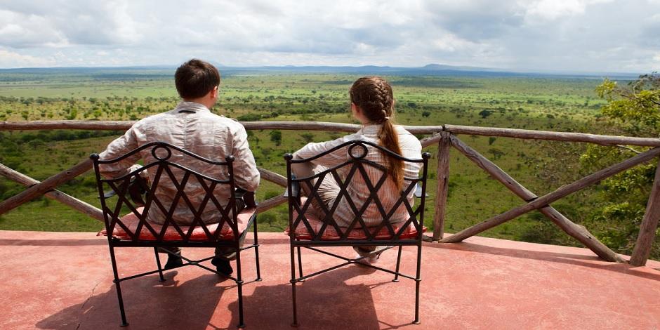 Vue panoramique sur la savane