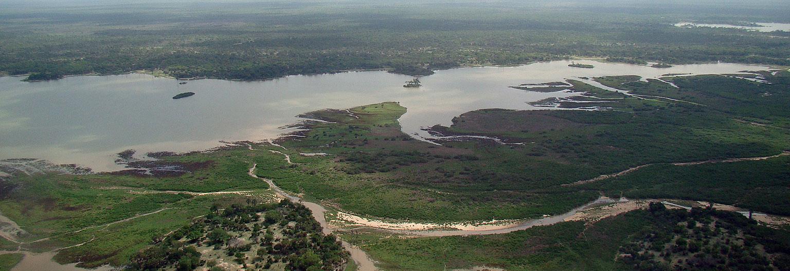 Vue aérienne du Parc national